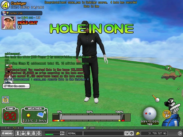 hole in one cadeiger