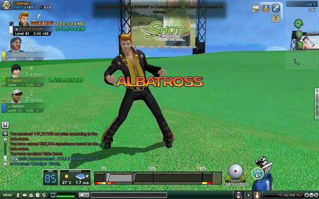 ALBATROSS HOLE 15 CADEIGER!