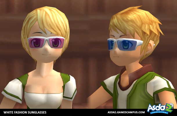 Best Anime MMORPG - Asda 2 - White Fashion Sunglasses