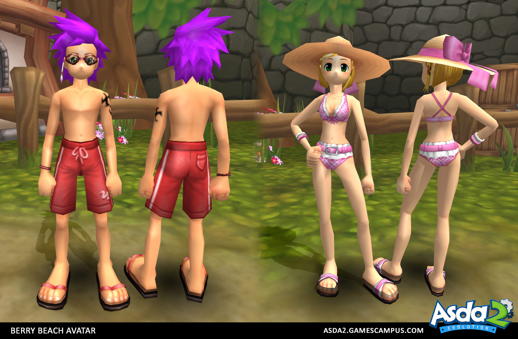Best Anime MMORPG - Asda 2 - Berry Beach Set