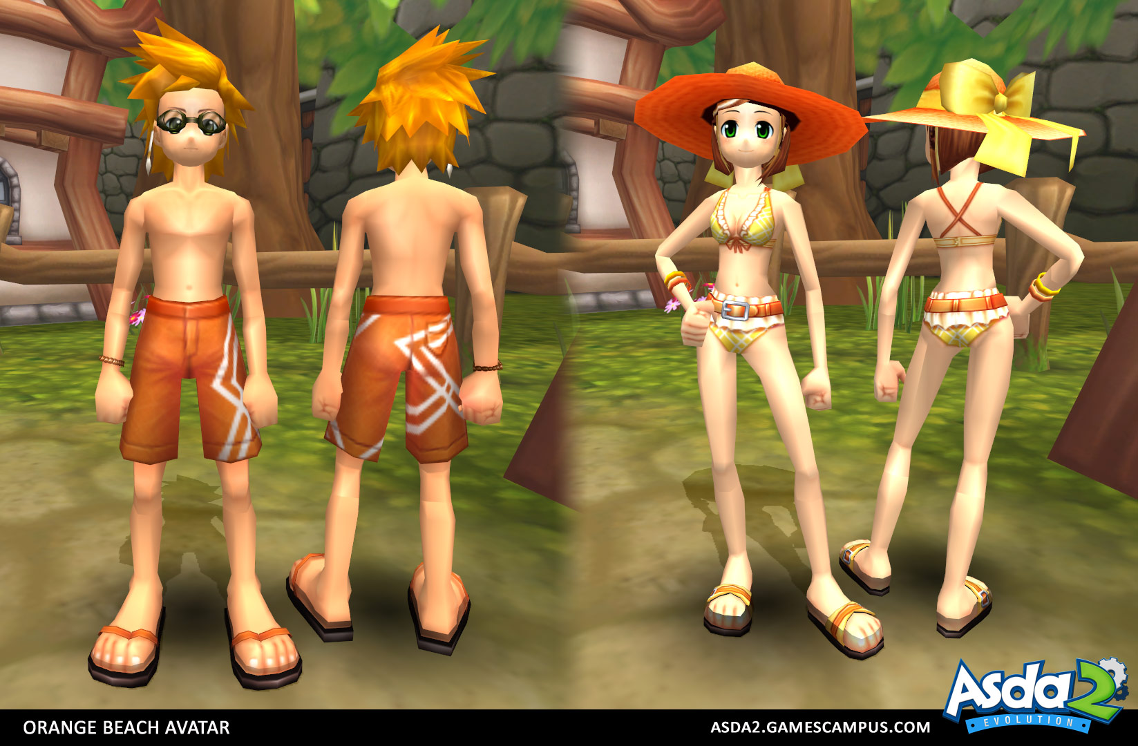 Best Anime MMORPG - Asda 2 - Orange Beach Set