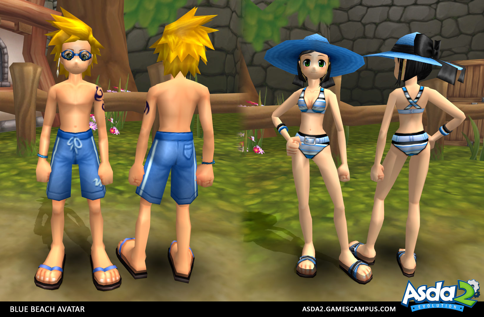 Best Anime MMORPG - Asda 2 - Blue Beach Set