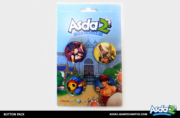 Best Anime MMORPG - Asda 2 - Get Your Swag On Button Pack