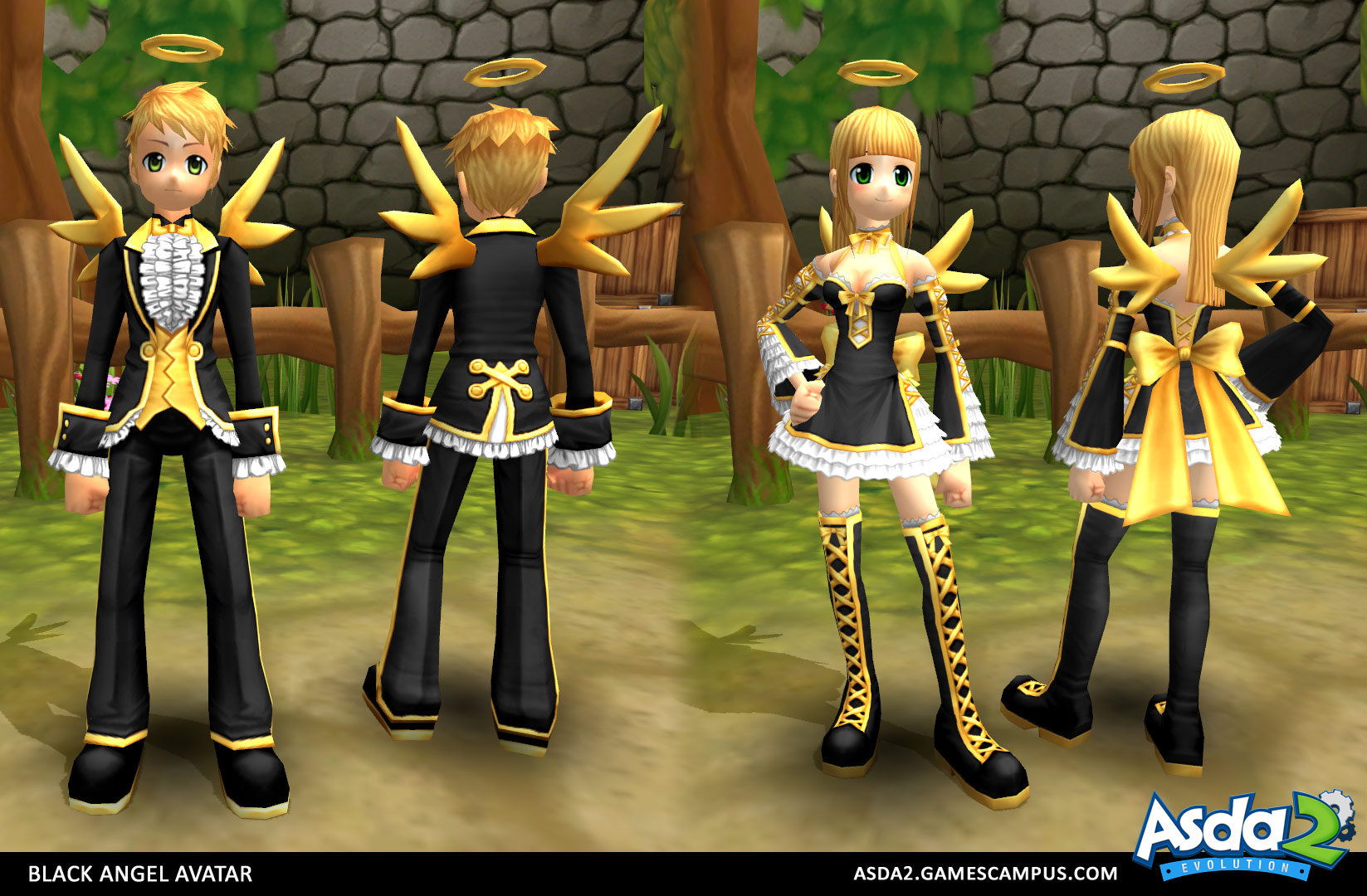 Best Anime MMORPG - Asda 2- Black Angel Set