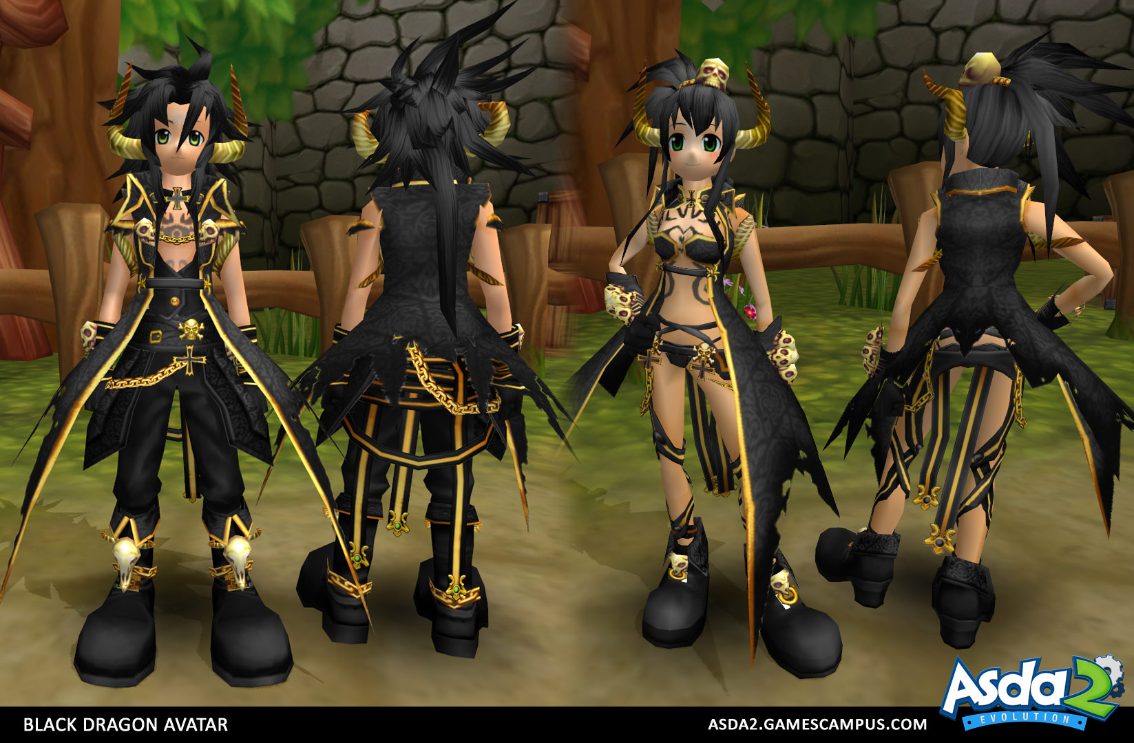 Best Anime MMORPG - Asda 2 - Black Dragon Set