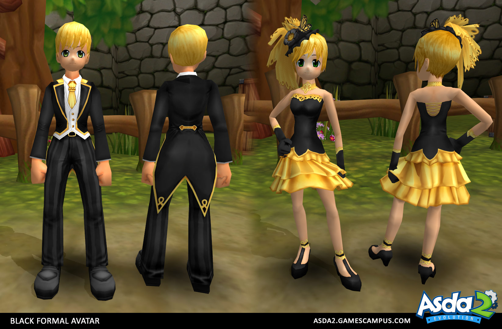 Best Anime MMORPG - Asda 2 - Black Formal Set