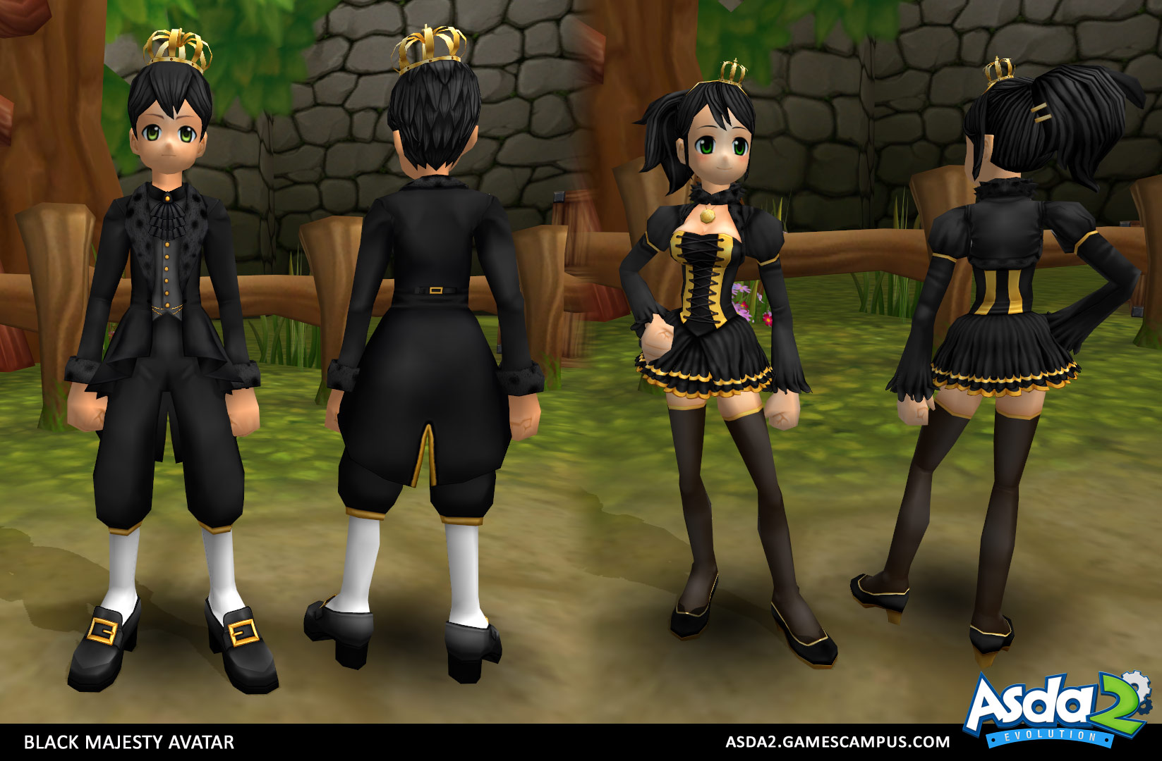 Best Anime MMORPG - Asda 2 - Black Majesty Set