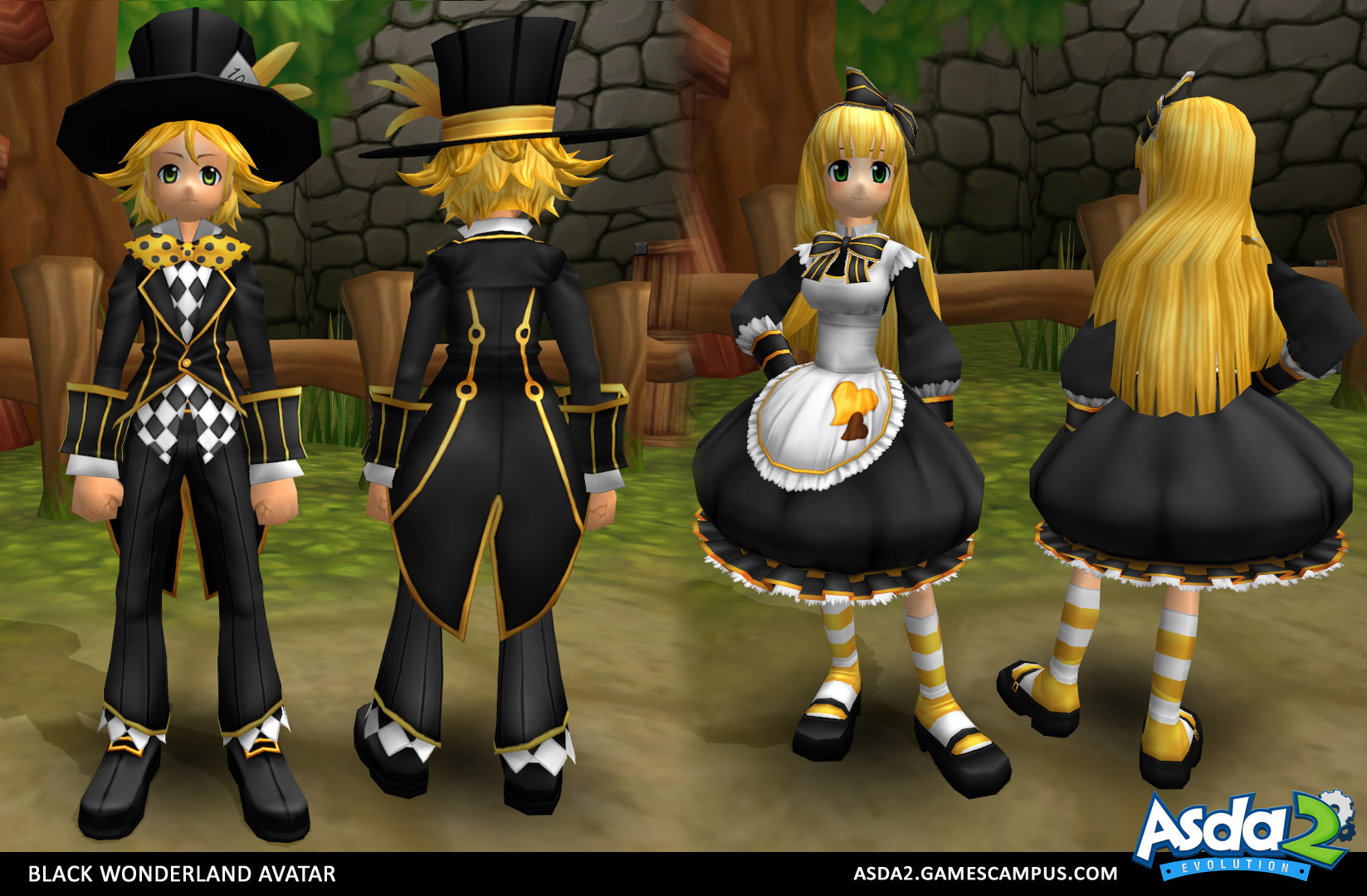 Best Anime MMORPG - Asda 2 - Black Wonderland Set