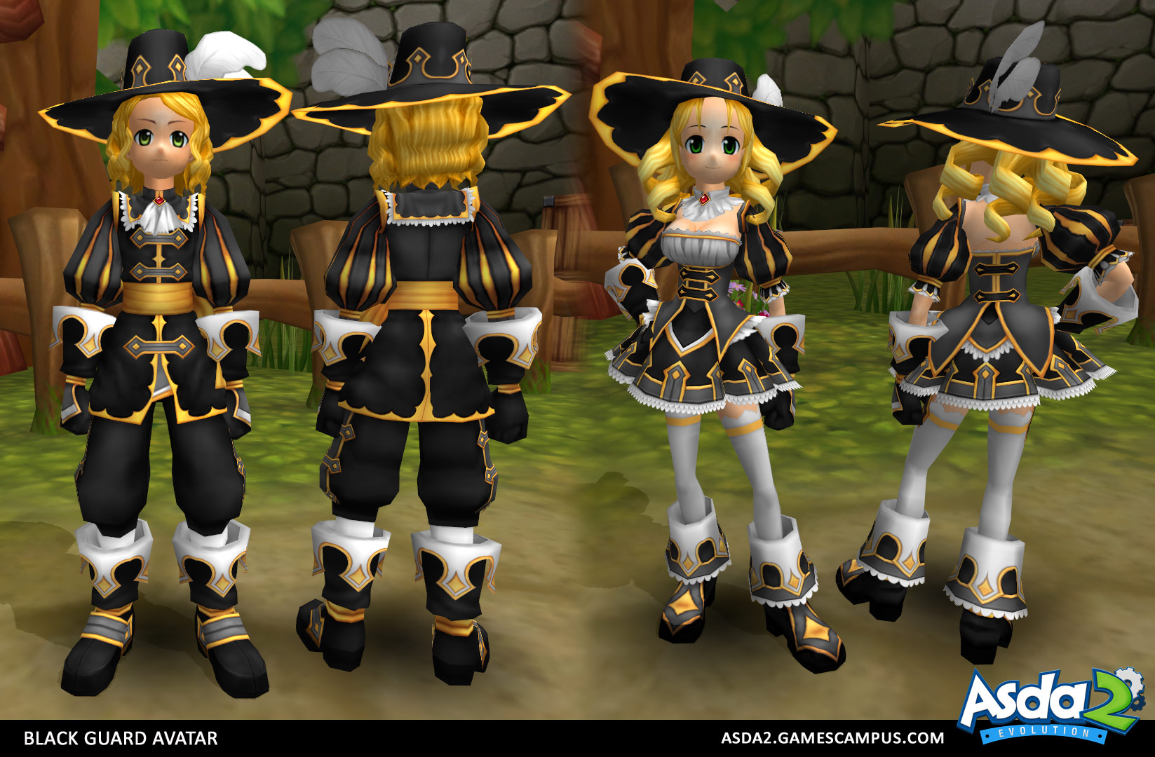 Best Anime MMORPG - Asda 2 - Black Guard Set
