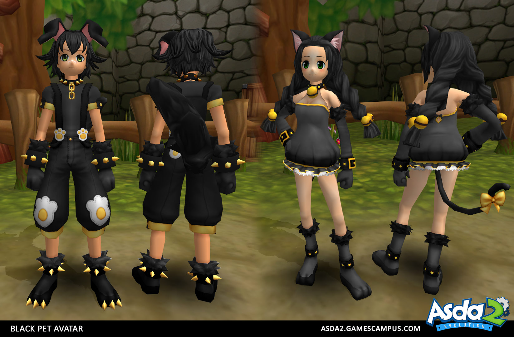 Best Anime MMORPG - Asda 2 - Black Pet Set