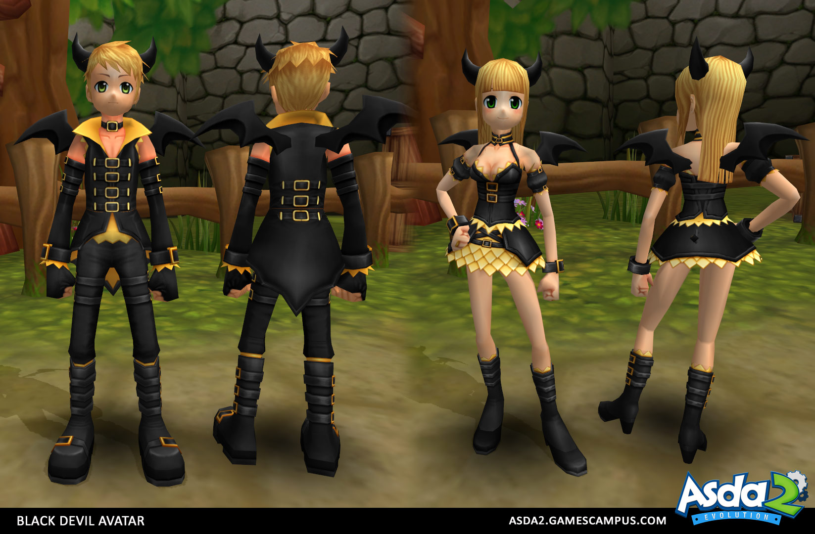 Best Anime MMORPG - Asda 2 - Black Devil Set