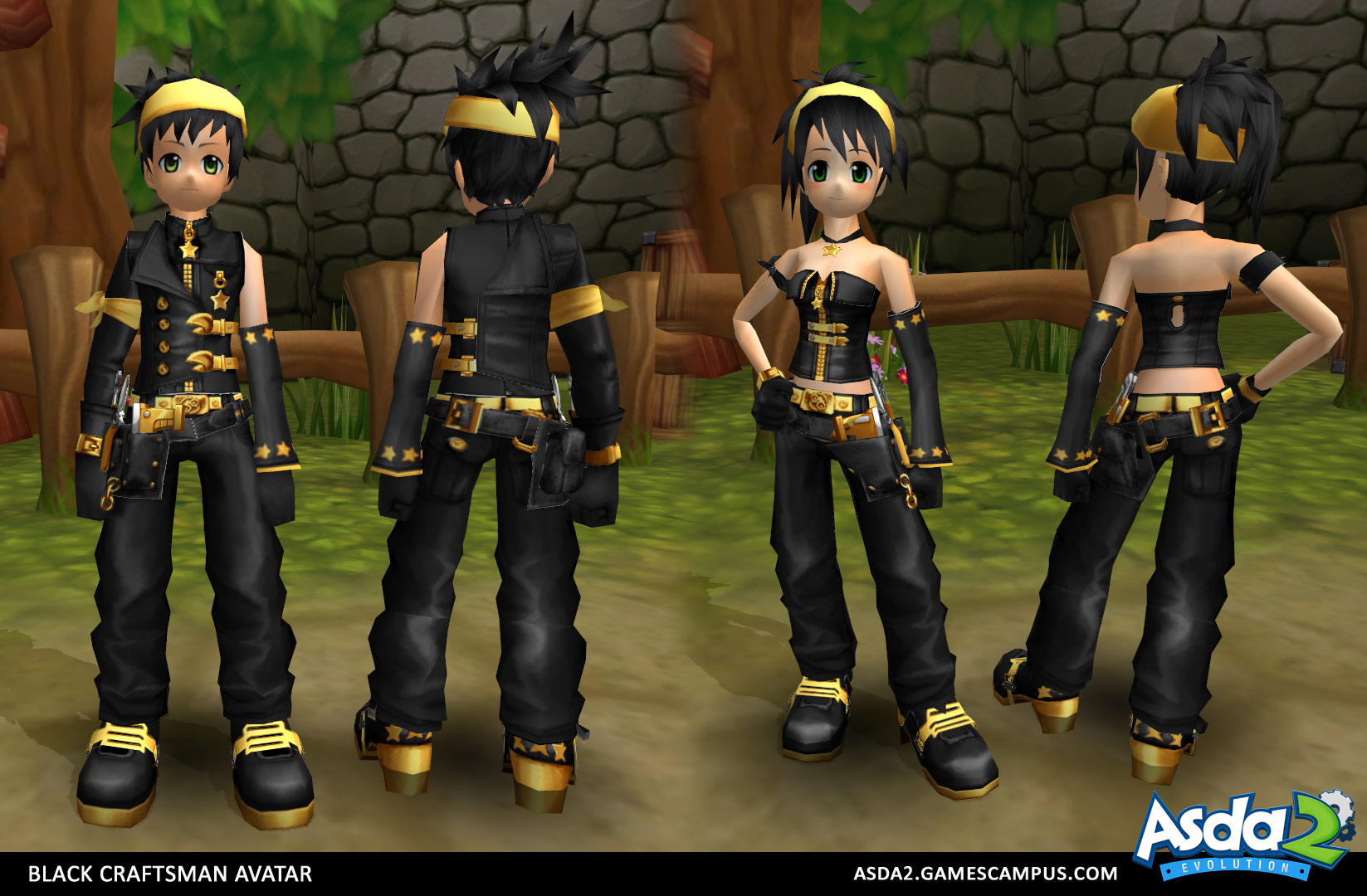 Best Anime MMORPG - Asda 2 - Black Craftsman Set
